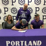 Portland High School senior football standout Hunter Felts signed a letter-of-intent to continue his education and playing career at Cincinnati (Ohio) Christian University on Friday. Felts, a 6-foot-1, 175-pound linebacker who also played offensive guard, made a team-high 112 tackles last fall and was named to 5-4A All-Region Team. He was also a First Team All-County selection, after being on the All-County honorable mention list as a junior. Felts made 31.5 tackles a junior.