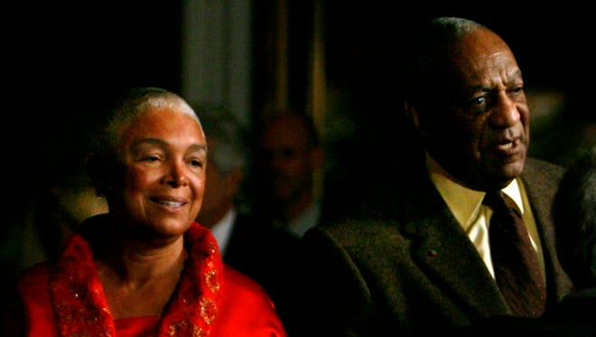 Bill and Camille Cosby at the Kennedy Center on  Oct. 26, 2009.