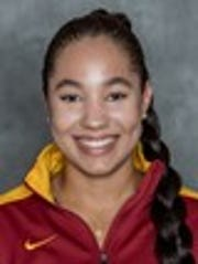 Iowa State tennis player Erin Freeman