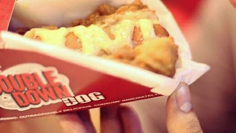 The KFC Double Down Dog is available at select KFCs