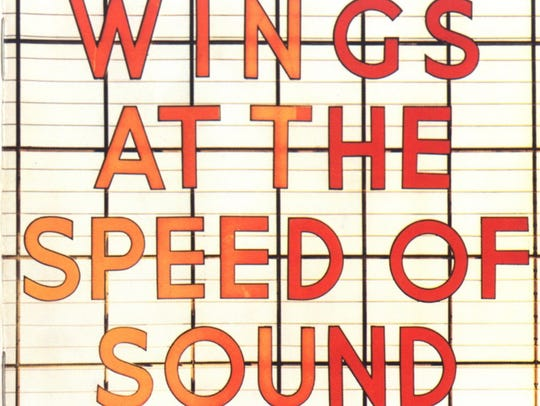 "The cover to Wings' 1976 album, ""Wings at the Speed"