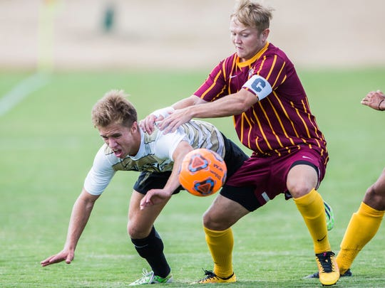 Anderson University and T.L. Hanna product Johnny Landis helped down Erskine 2-1 last September to start running up the score in the Beville Cup.