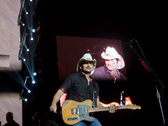 Brad Paisley performs at Thompson-Boling Arena with
