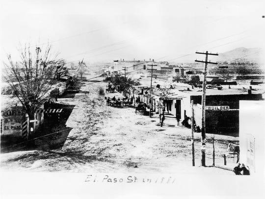 South El Paso Street, 1881.