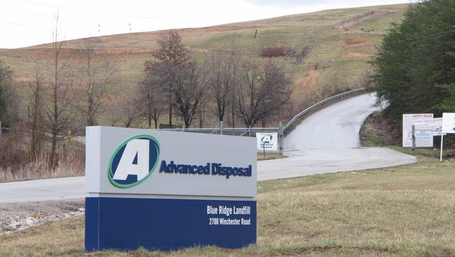 Entrance to Blue Ridge Landfill in Estill County.