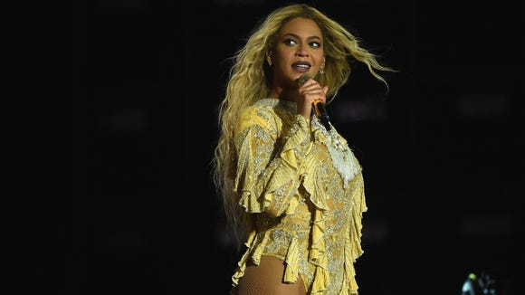 Beyonce performs on stage during 'The Formation World