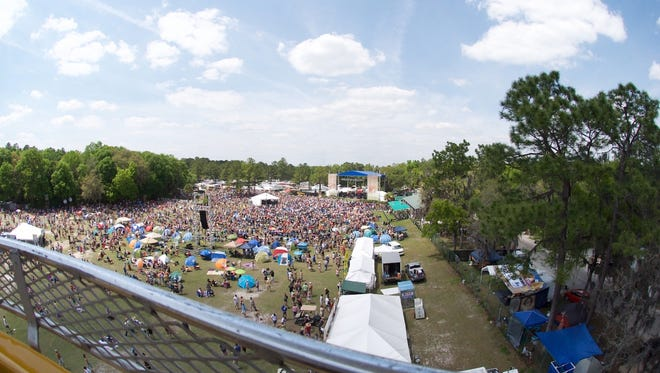Wanee Festival at The Spirit of the Suwannee in Live Oak, Florida.