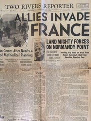 The Two Rivers Reporter, published on D-Day, June 6,