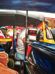 """""""Max City"""" by Ray Rowe is one of several works by the"""