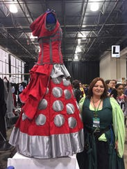 A dress inspired by Daleks, the evil alien enemies