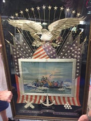The silk embroidery and painting donated to the Tallahassee