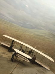 Vintage photos are part of the experience at the Wright