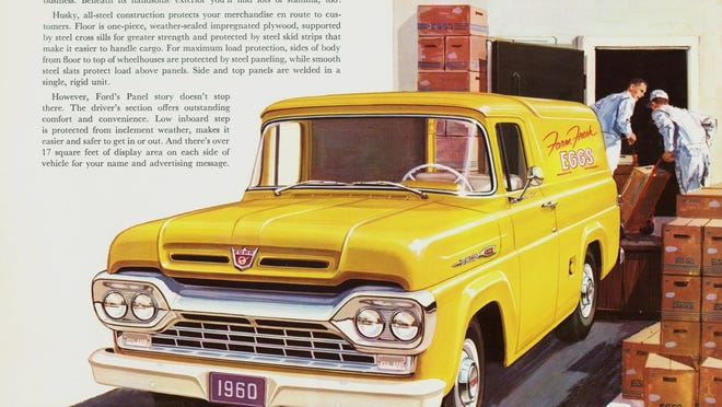 Ford's 1960 F-100 series delivery truck was a best seller and was utilized by many companies for deliveries.