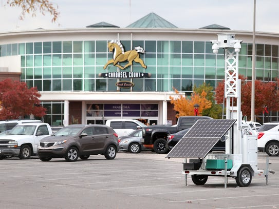 SkyCop cameras dot the parking lots at Wolfchase Galleria,