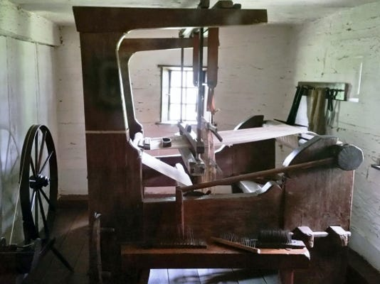 A weaving machine used by the Ephrata Cloister, a pre-colonial religious society, pictured in May.
