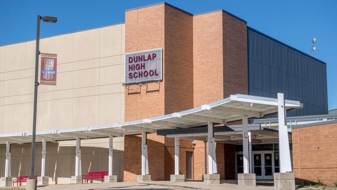 Dunlap High School, 5220 Legion Hall Road, in Dunlap.