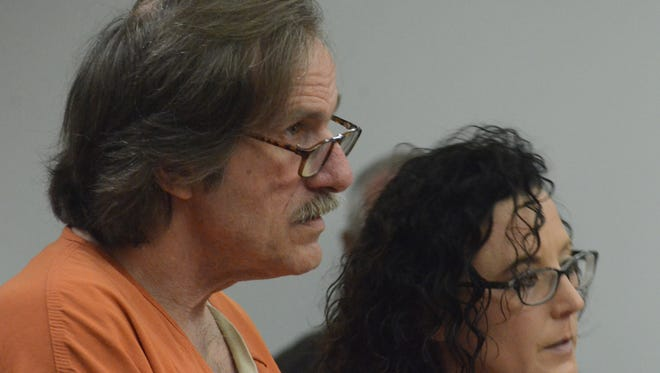 Arthur French and his attorney, Melissa Heffner, listen to Judge Sarah Lincoln on Friday.