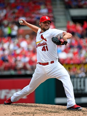 John Lackey drove in a run for the third time in his big league career and struck out 10 in 7 2-3 innings.