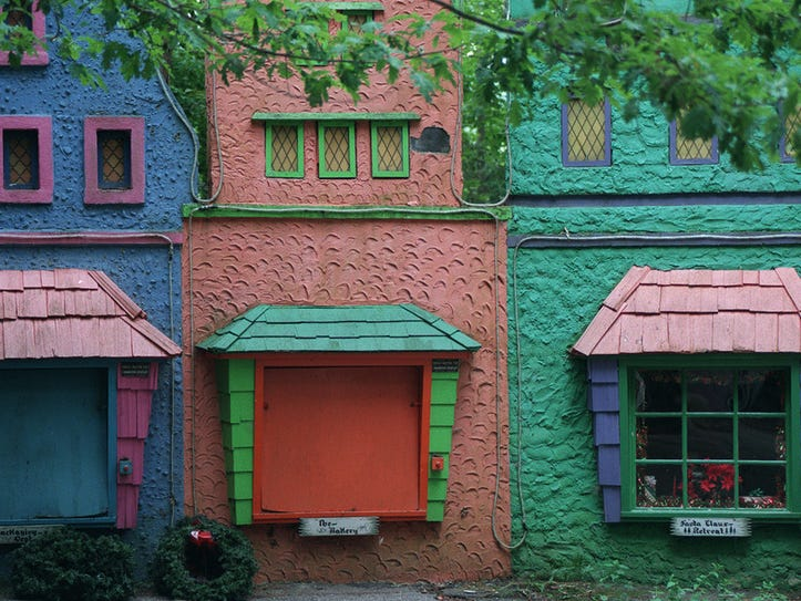 This 1997 file photo shows colorful sets at Fairy Tale