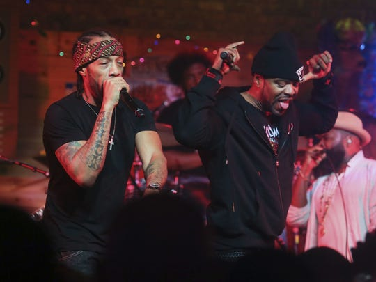 Redman (left) and Method Man, shown March 18 during the South by Southwest Music Festival in Austin, Texas, will perform June 16 at Starland Ballroom, Sayreville.