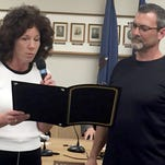 Lebanon Mayor Sherry Capello presents a proclamation to David Stein, president and co-owner of Hidden Still Spirits, for winning three medals at the recent San Francisco World Spirits Competition, including gold medals for its Union Canal Rum and Mad Crayfish Vodka, and a bronze medal for its Screw Head Shine. Located at Fifth and Willow streets, Lebanon, Hidden Stills opened in August 2015.