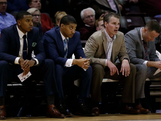 From left, Missouri State coaches Keith Pickens, Corey