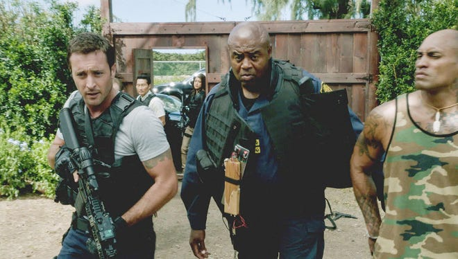 'Hawaii Five-0,' which recently added Chi McBride (center) to its main cast, has actually seen its ratings increase since moving from Monday to Friday.
