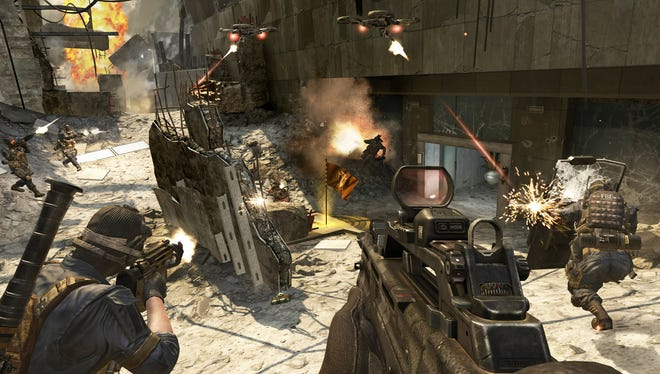 A scene from the action game 'Call of Duty: Black Ops II.'