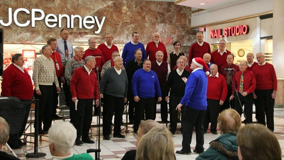 Webster's Chorus of the Genesee bringing holiday joy to mall patrons last December.