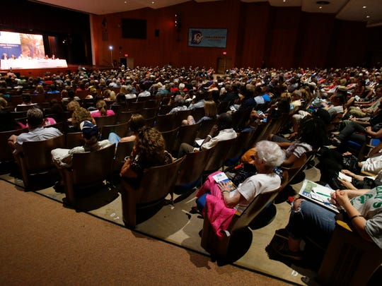 More than 1,000 people attended The News Journal's Imagine Delaware forum on heroin addiction in June at Dickinson High School in Milltown.