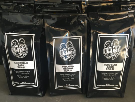 Grumpy Goat Coffee offers single-origin coffees roasted