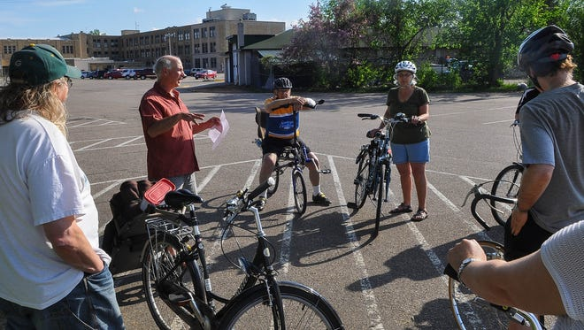 """Poky Pedaling will lead a ride to the Riverfront Arts Center for the opening reception for the new month-long exhibit """"CycleLove — the art of the bicycle and bicycle culture"""" on Friday."""