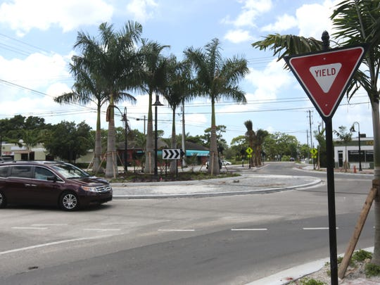 The roundabout at Terry Street and Old 41 Road, under