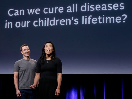 Facebook CEO Mark Zuckerberg and his wife, Dr. Priscilla