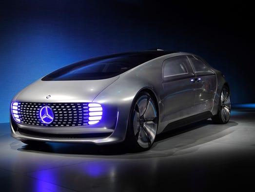 A Mercedes-Benz  F 015 autonomous driving automobile