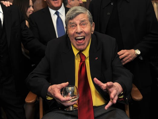 Actor Jerry Lewis attends Jerry Lewis's 90th Birthday