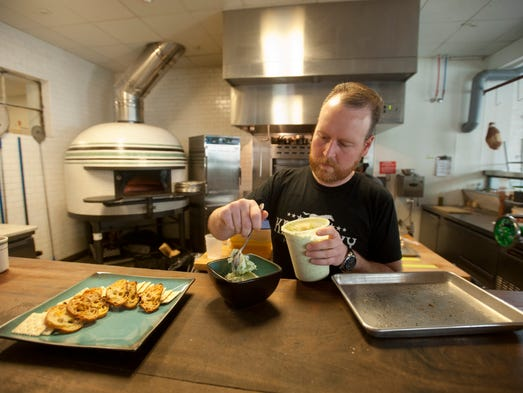 Louisville garage bar chef rolls out fall menu and recipes for Garage ad nancy