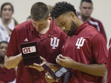Reigning Big Ten champs get surprise gift at Hoosier Hysteria