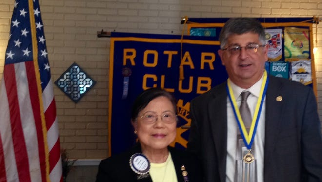 Paul Piperato, right, was recently honored by the Rotary Club.