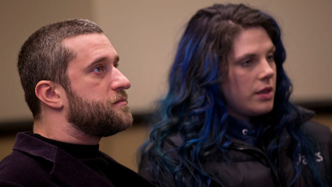 Dustin Diamond attends a status hearing at Ozaukee County Courthouse on December 29, 2014 in Port Washington, Wisconsin.