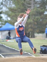 Galion's Marisa Gwinner swept the high jump and long jump Saturday afternoon.