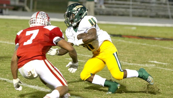 Keyal Talbert (11), shown here in a game earlier this season, and Reynolds are 7-2 overall and 4-0 in the Mountain Athletic Conference after winning Friday at McDowell.