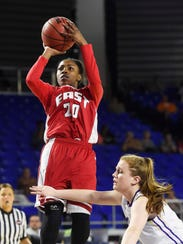 East Nashville's Erica Haynes-Overton shoots during