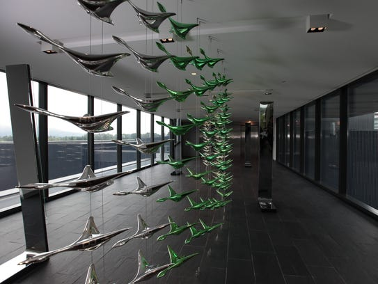 Flying ducks at the Oregon's football performance facility