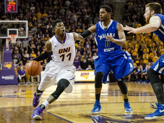 NCAA Basketball: Indiana State at Northern Iowa