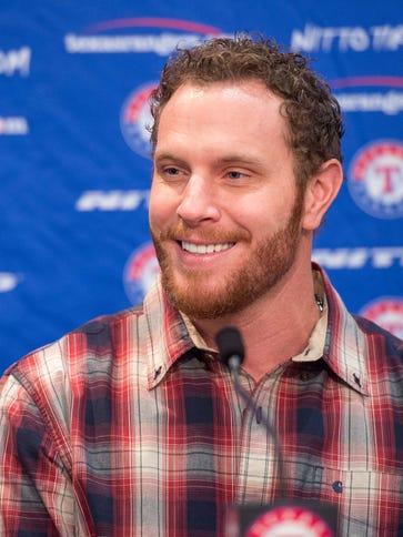 Josh Hamilton returned to the Texas Rangers on Monday