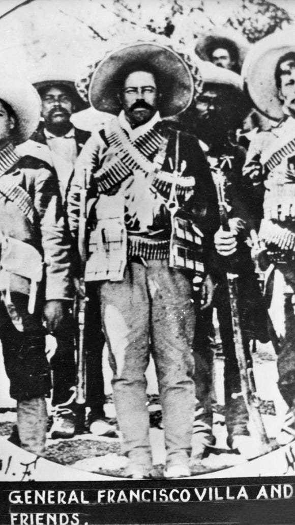"""General Francisco """"Pancho"""" Villa and friends. (undated)"""