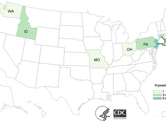 People infected with the outbreak strain of E. coli
