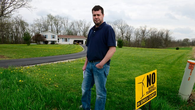 Chris Zeman is among hundreds of residents who formed the Seneca Anti-Wind Union to oppose plans for wind energy development in Seneca County. Zeman said he moved to the country for a sense of relaxation that would be lost if 591-foot-tall wind turbines became part of the landscape.