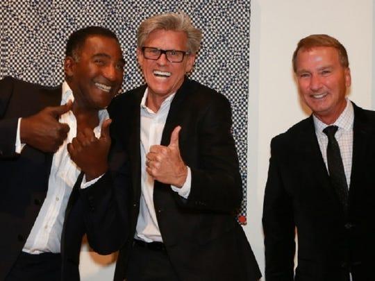 Entertainer Norm Lewis, Silver Row Sponsor Jerry Green, Wells Fargo's Senior VP Gary Hall